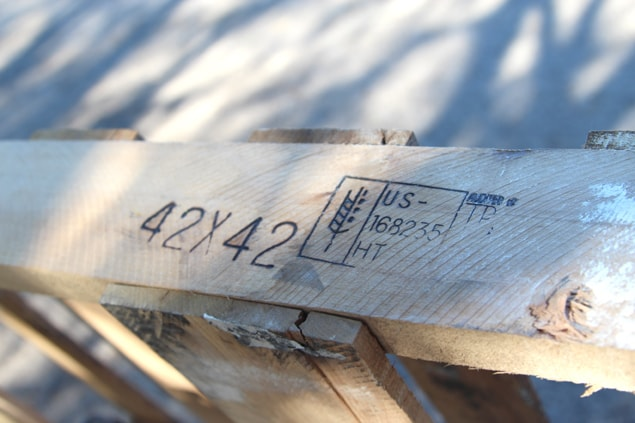 ht stamps on wood pallets, good for DIY projects