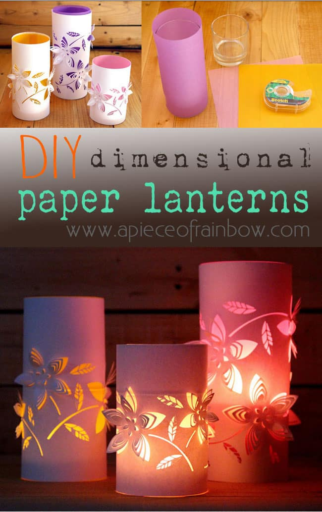 Diy dimensional paper lantern a piece of rainbow