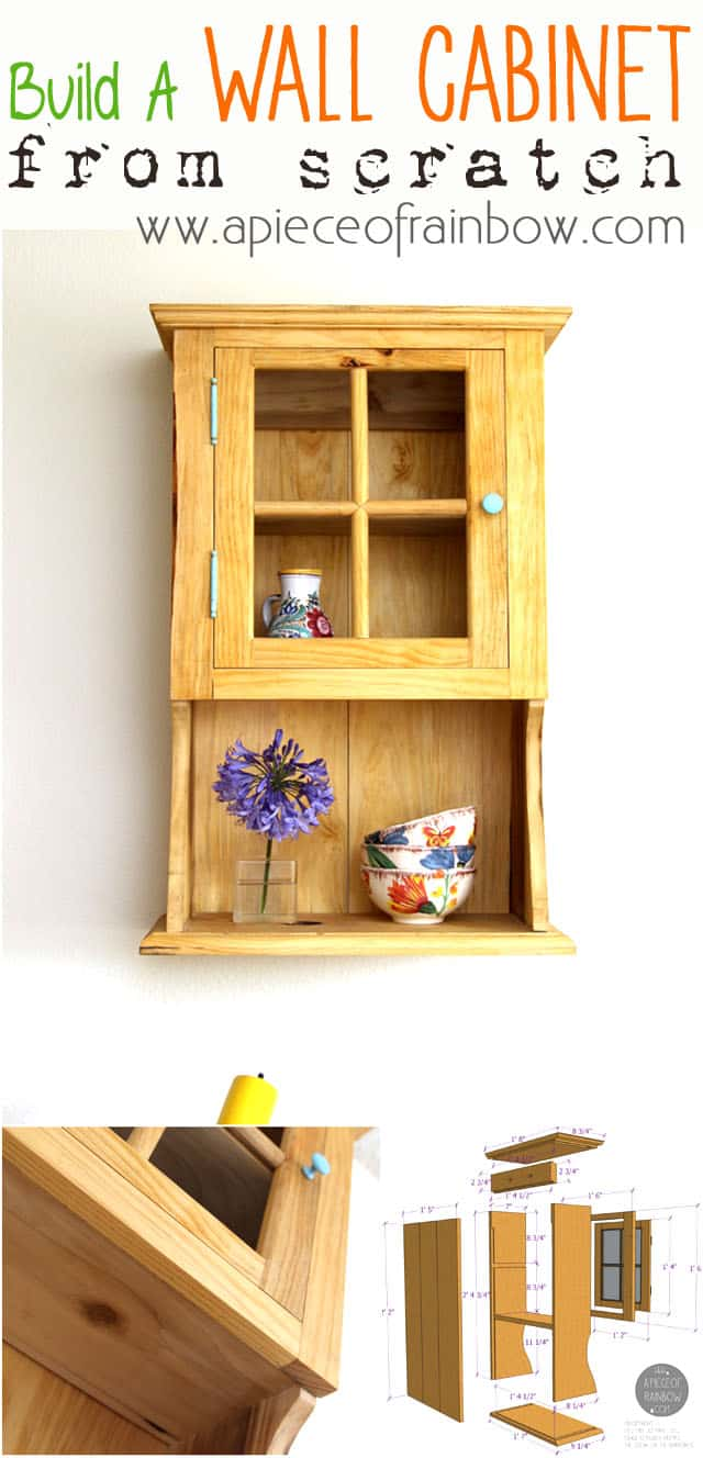 Make Wall Hanging Cabinet From Scratch  A Piece Of Rainbow  Apieceofrainbow21b ...