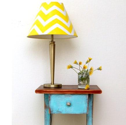 Before and After: Side Table and Lamp Makeover