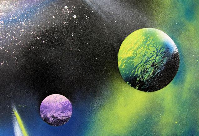 diy spray paint art in 5 minutes a piece of rainbow