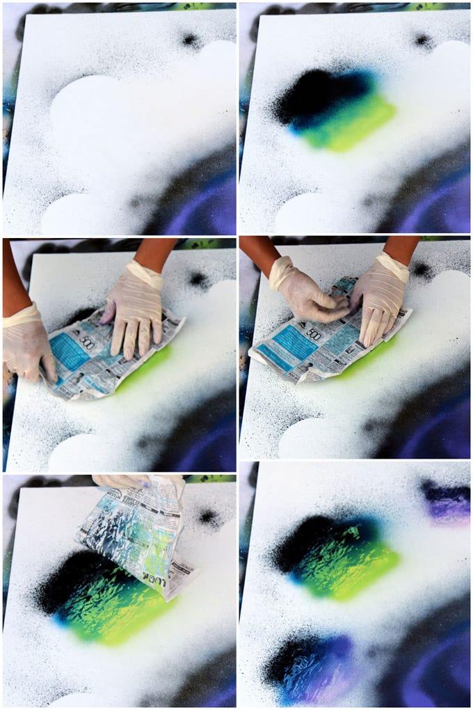 DIY Spray Paint Art In 5 Minutes - A Piece Of Rainbow