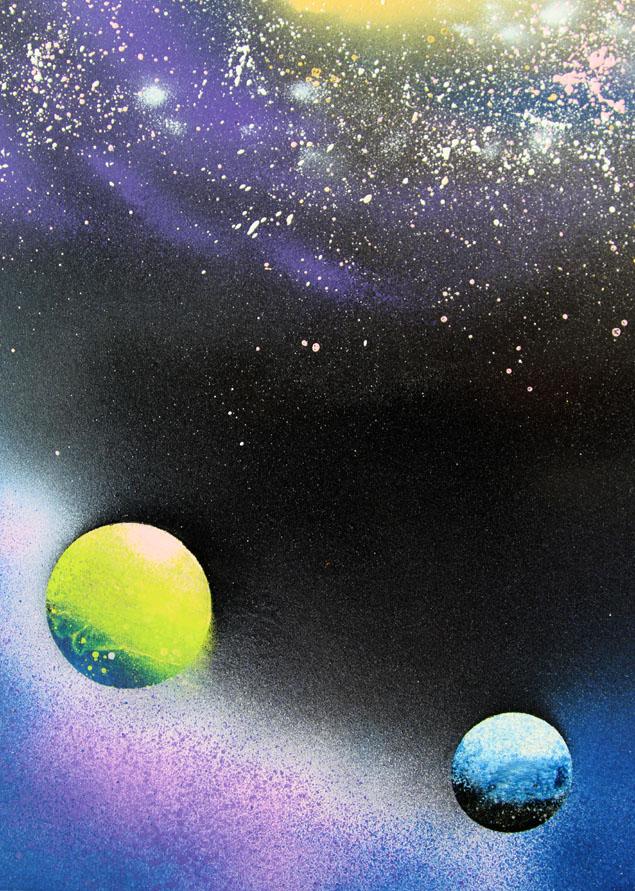spray paint galaxy art