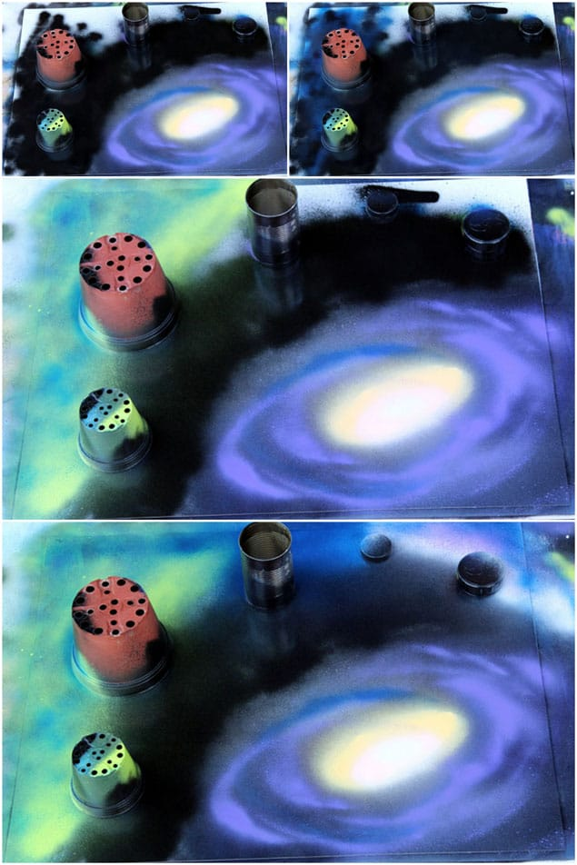 spray paint deep space of the galaxy
