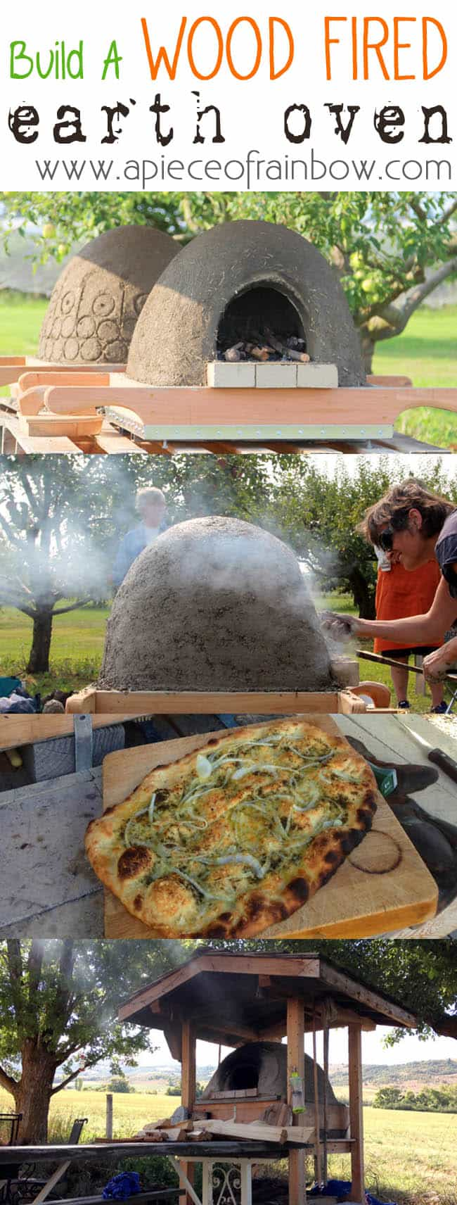 Build a wood fired earth oven with readily available materials, and make pizzas, breads, cookies! | a piece of rainbow blog