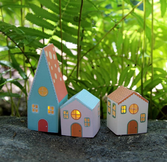 Diy Paper House Luminaries A Piece Of Rainbow