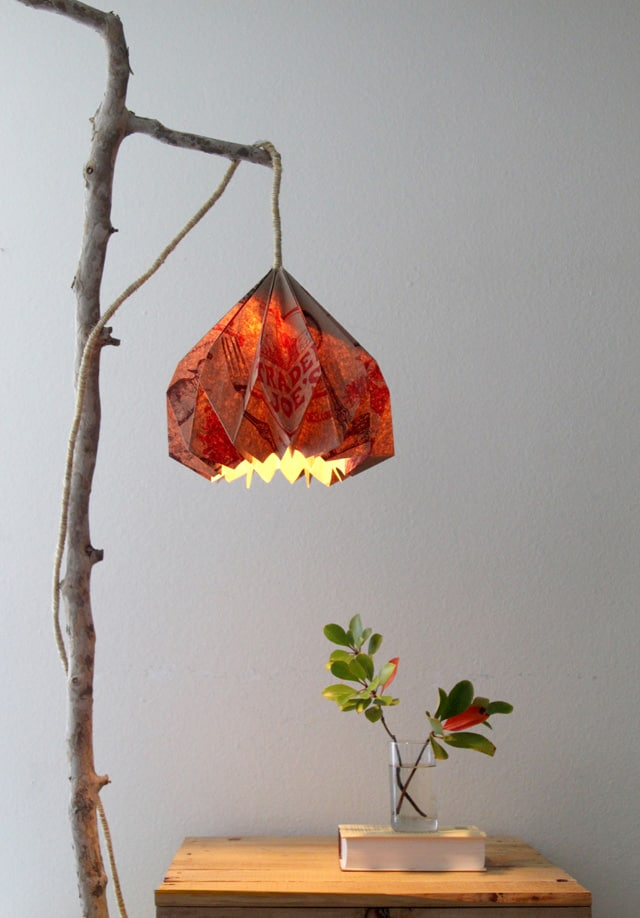 Easy diy pendant light with beautiful origami lampshade a piece of how to make a hanging pendant light easily with you origami lampshade and pendant light kit mozeypictures Image collections
