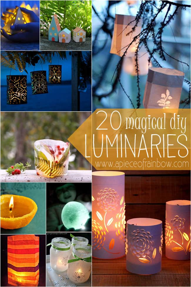 20 Luminaries Diy Apieceofrainbow