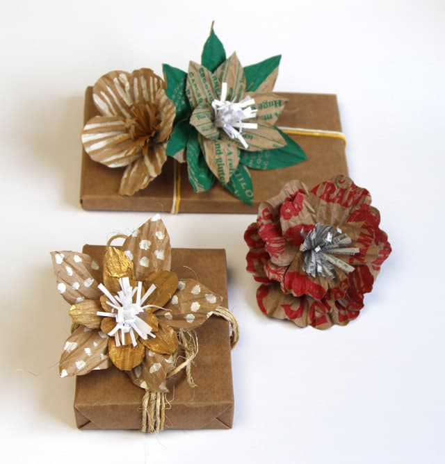 Grocery bag paper flowers | A Piece Of Rainbow