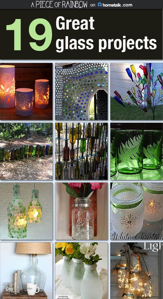18 creative ideas to reuse glass | apieceofrainbow.com