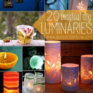 Make Lanterns & Luminaries: 20 DIY | A Piece Of Rainbow