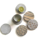 DIY: Concrete Coasters With Decorative Inserts