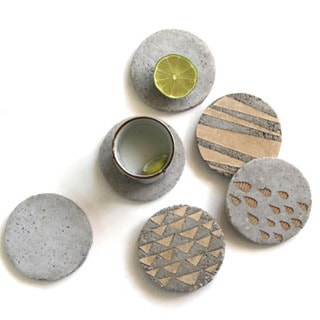 DIY: Concrete Coasters With Decorative Inserts