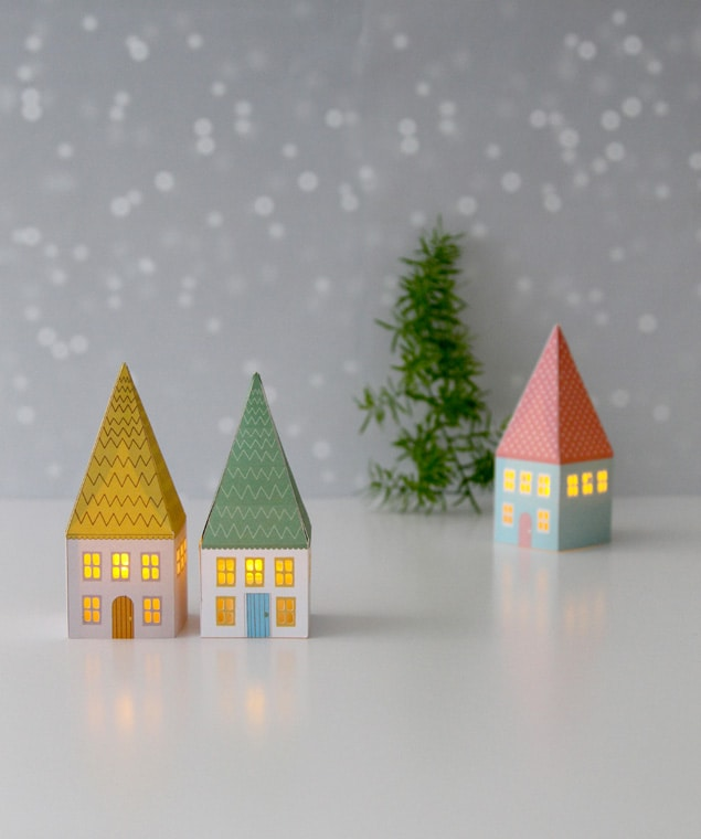printable paper houses | a piece of rainbow