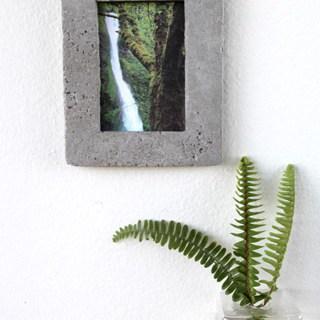 DIY: Concrete Picture Frame - A Piece Of Rainbow