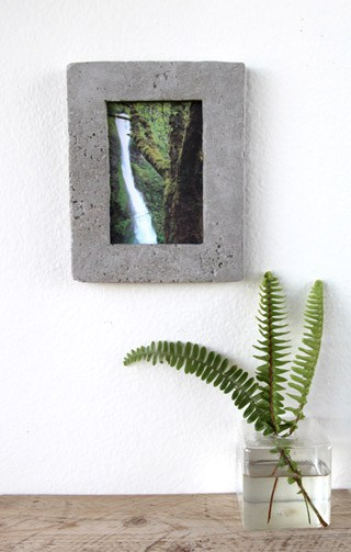 DIY: Concrete Picture Frame - A Piece Of Rainbow