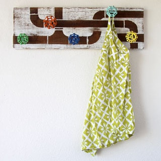 DIY: Vintage Faucet Handle Coat Rack - A Piece Of Rainbow