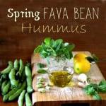 Spring Fava Bean Hummus - A Piece Of Rainbow