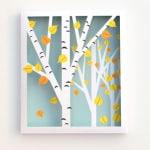 DIY: Printable Birch Shadow Box - A Piece Of Rainbow