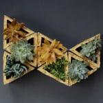 DIY: Concrete Modular Geometric Wall Planters