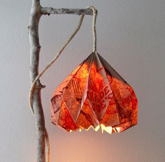 Trader Joes Bag Hack: How to Make Pendant Lamp