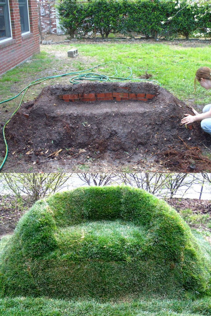 DIY Grass Sofa Garden Decorations