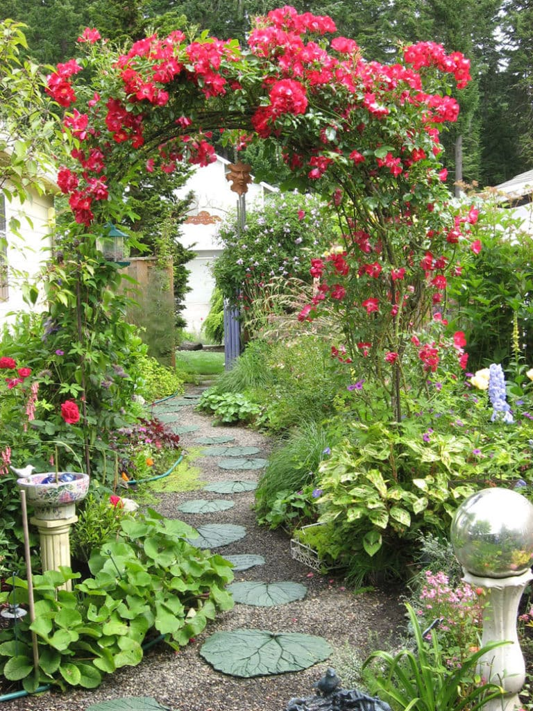 rose pergola and arched gateway