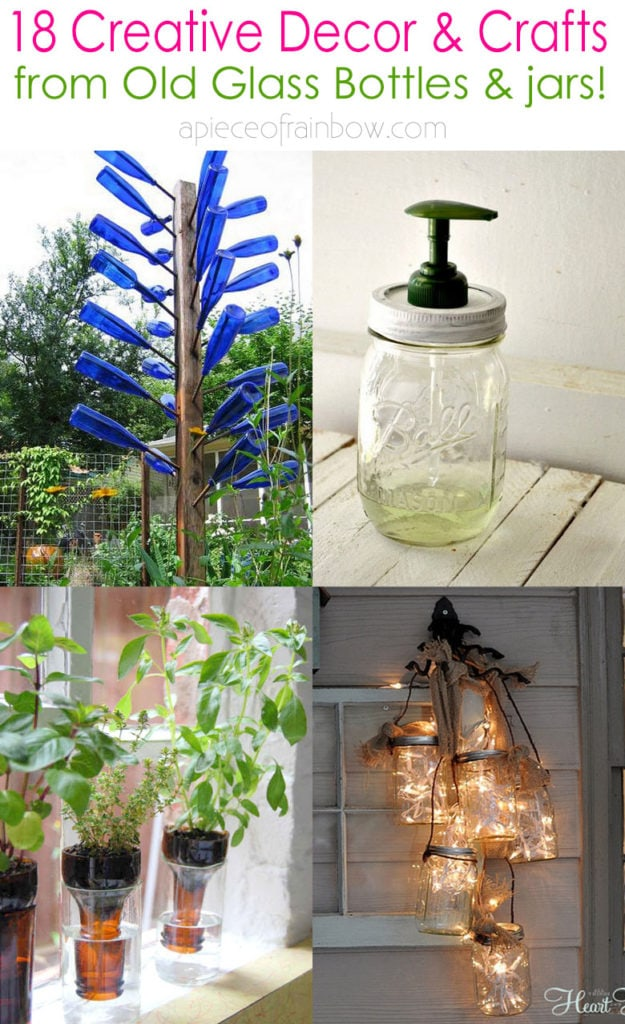 18 Creative Diy Glass Bottle Decor Craft Ideas A Piece Of Rainbow