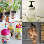 Upcycle old glass bottles & jars to make beautiful home & garden decorations, lights, candles, planters, & more! Great creative reuse, DIY & craft ideas