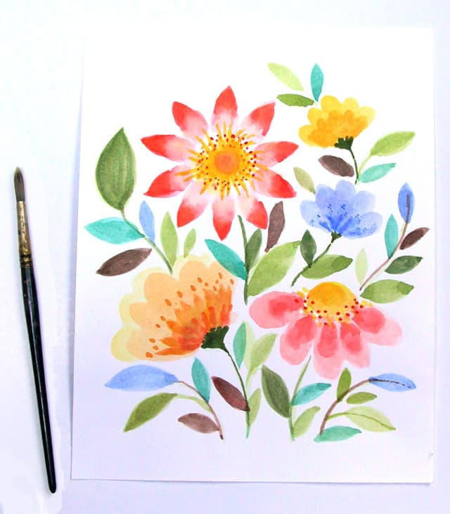 watercolor-flowers-apieceofrainbowblog 1a