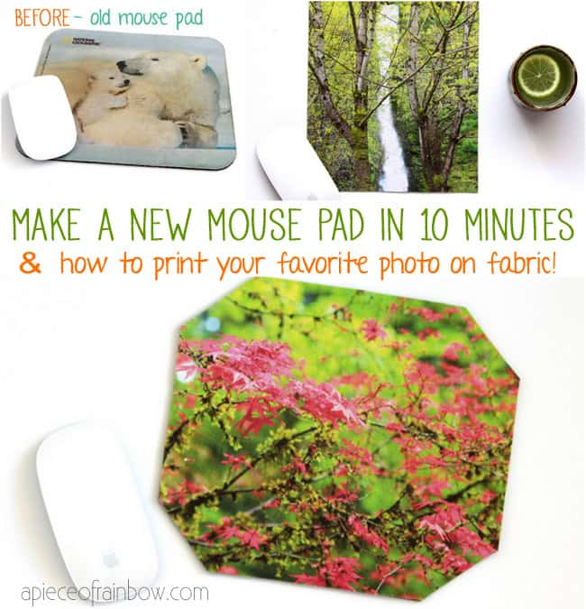 How to make mouse pad | A Piece Of Rainbow