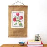 print on fabric & DIY burlap art scroll | A Piece Of Rainbow