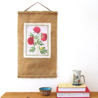 print on fabric & DIY burlap art scroll | A Piece Of Rainbow