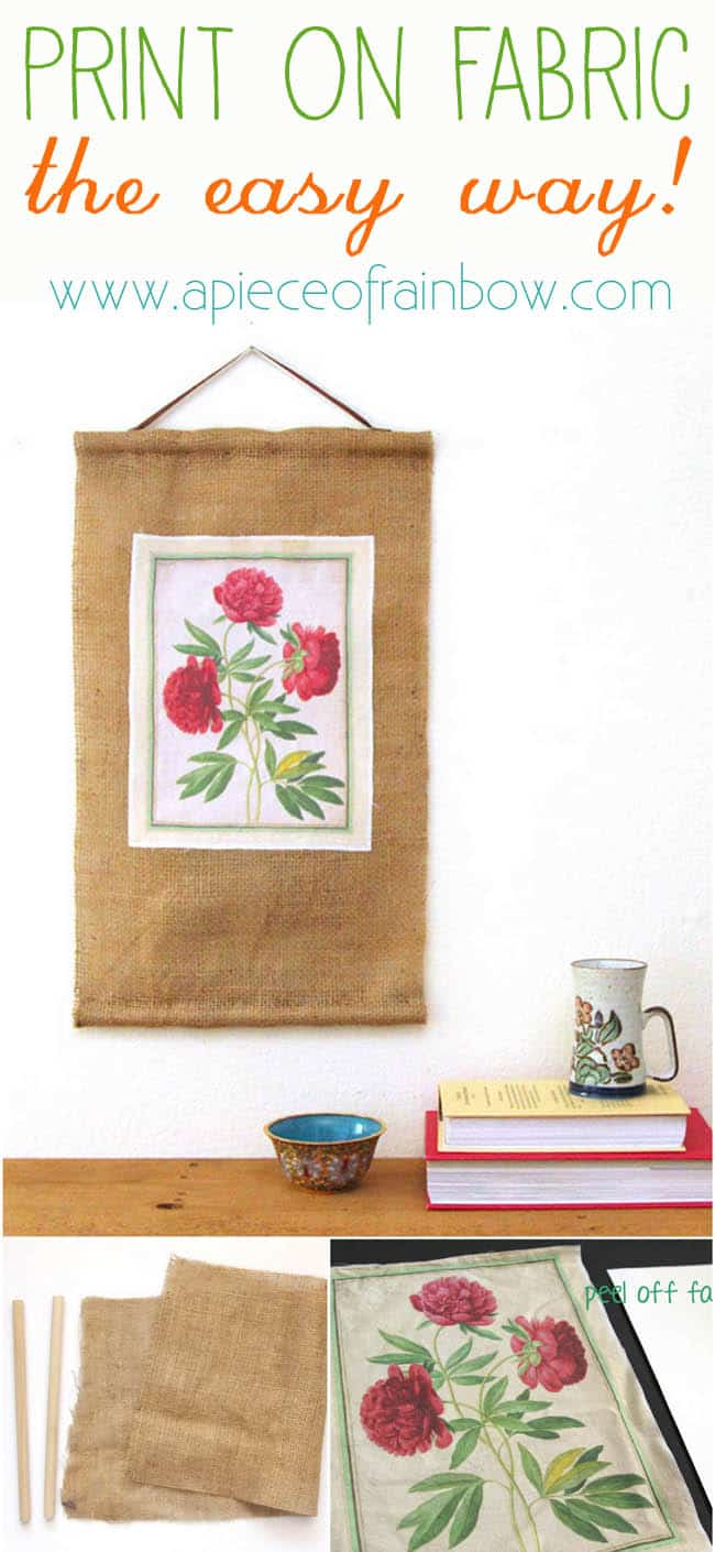 How to print on fabric and make burlap scroll | A Piece Of Rainbow Blog