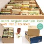 Make A Seed Box for organized storage   A Piece of Rainbow