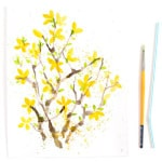 Paint Watercolor Flowers - Forsythia | A Piece Of Rainbow