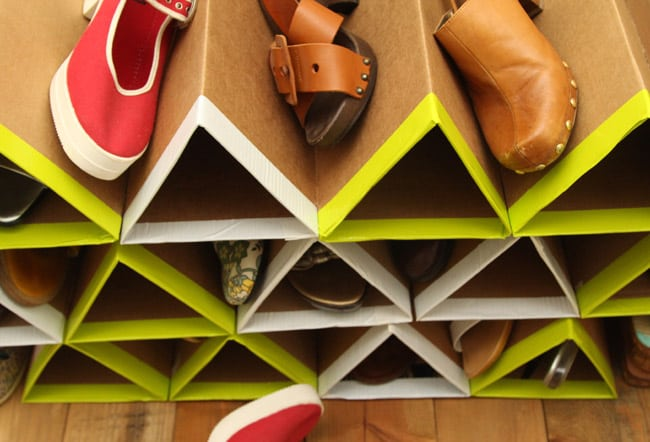 DIY shoe holder rack for shoe storage and closet