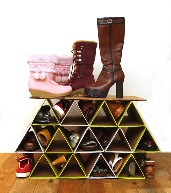 Super Space Saving Diy Shoe Rack For 0 A Piece Of