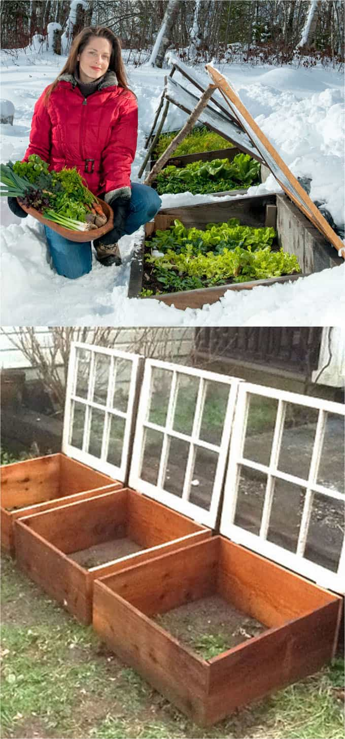 Small easy DIY greenhouses using wood frame and plastic cover