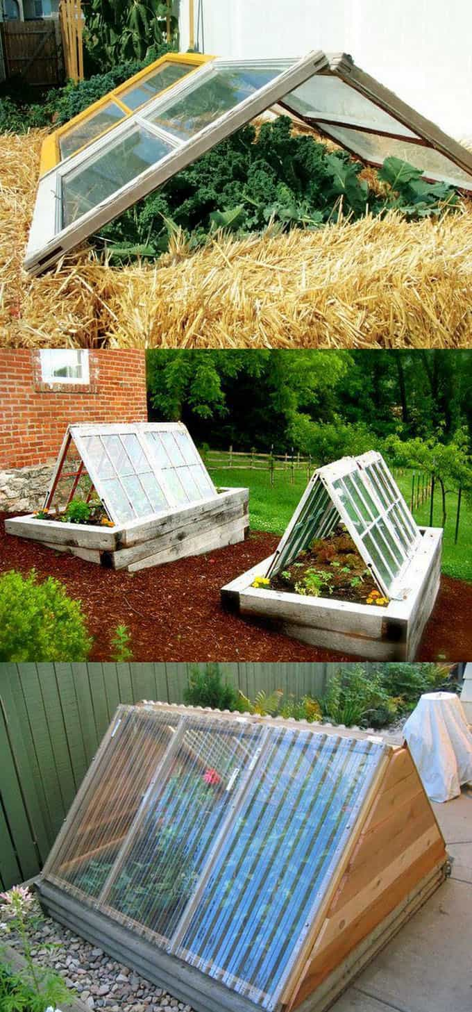 A Frame Greenhouses Are Very Easy To DIY. Here Are 3 Variations Showing  Different Easy To Work With Materials Such As Straw Bales, Old Windows, ...