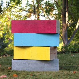 How to transform generic looking plastic planters into super chic wood planters, in just 30 minutes!   A Piece of Rainbow