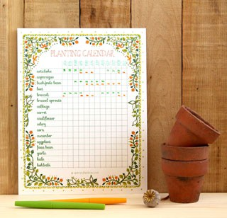 A set of beautiful and free printable planting calendar that you can customize | A Piece Of Rainbow