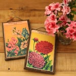 Make wall art from Free printable vintage French seed packets and scrap wood! | A piece of rainbow blog