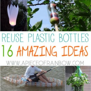 16 ingenious ways to reuse plastic bottles to make amazing useful things for our home and garden! You may never look at plastic bottles the same way again | A piece of Rainbow