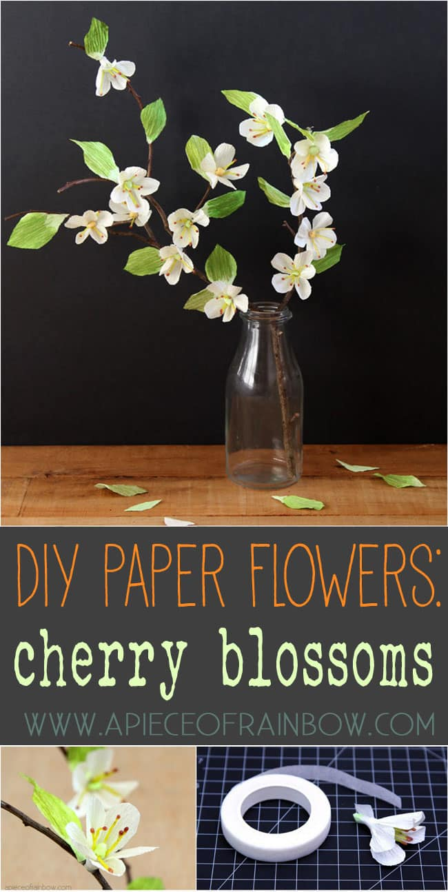 Diy Paper Cherry Blossom Branches A Piece Of Rainbow