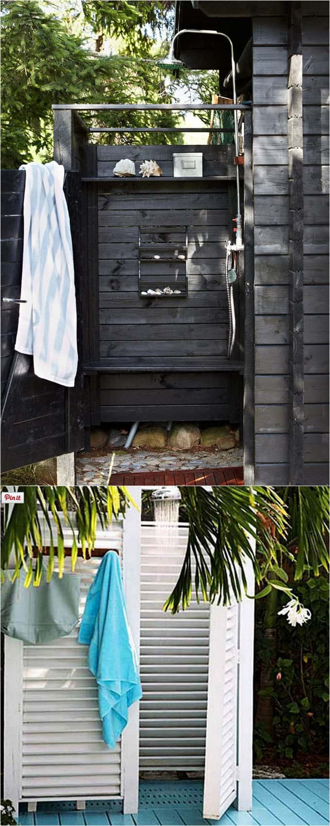 beautiful backyard Shower Enclosure ideas