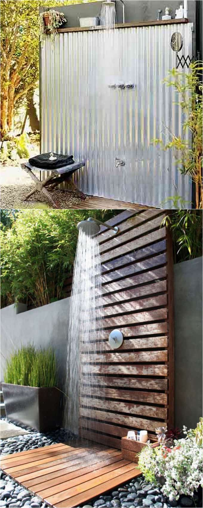 One Panel Outdoor Showers