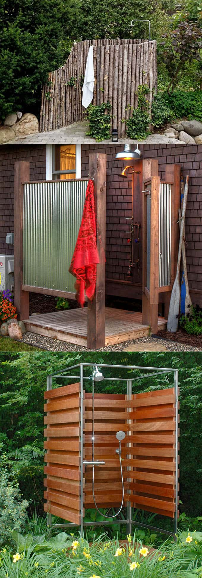 simple outdoor shower ideas