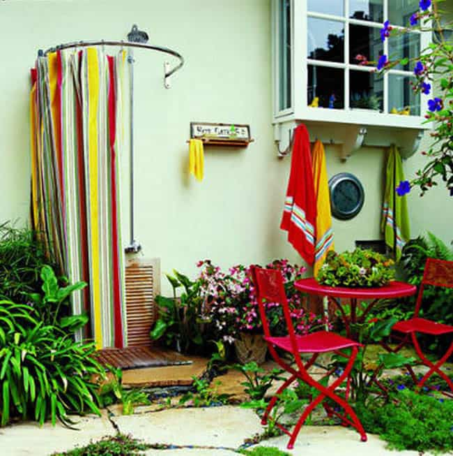 Bathroom Curtain Ideas Diy: 16 DIY Outdoor Shower Ideas