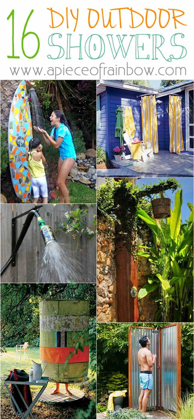 Diy Outdoor Showers Apieceofrainbowblog